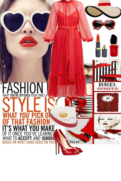 I love red- Fashion set