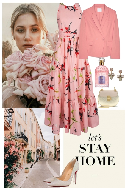 Elegant&romantic pink look