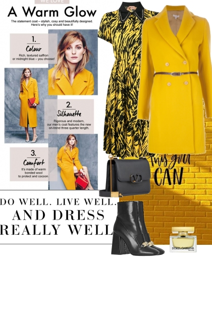 Yellow colour look