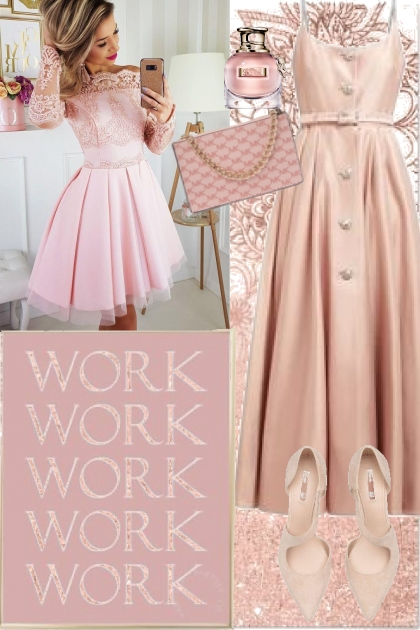 Sweet pink look 4- Combinazione di moda