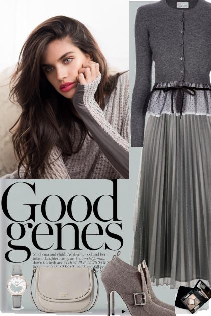 Elegant grey look