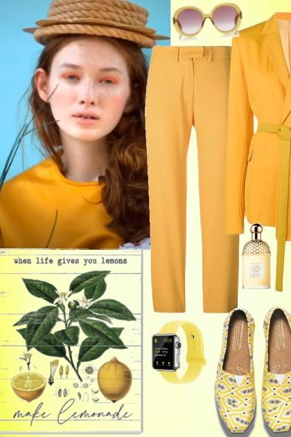 Elegant yellow look 2
