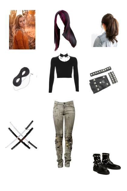 Emily Summer kick ass outfit (Ironhide's girl)
