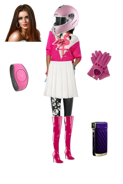Zoe a.k.a Pink Power Ranger outfit