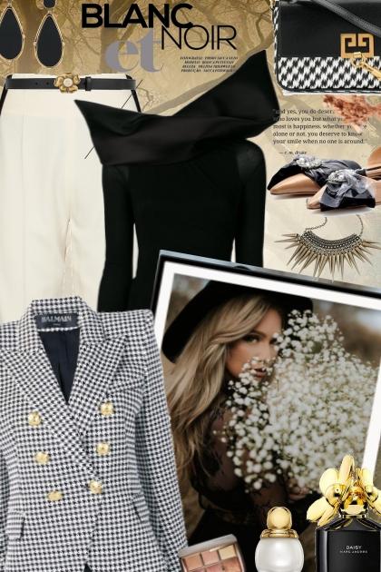 Blanc et Noir- Fashion set