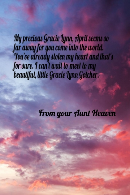 A letter to Gracie