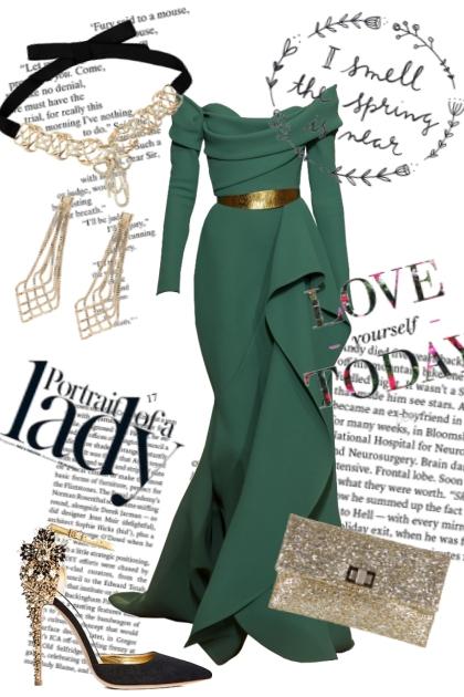 Green Bohemian dress
