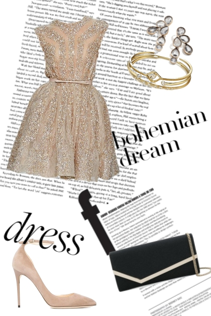 Dress and sequins