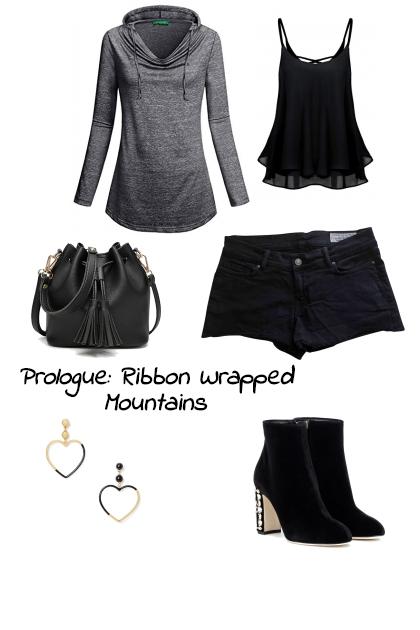 Indigo Ribbon Wrapped Mountains