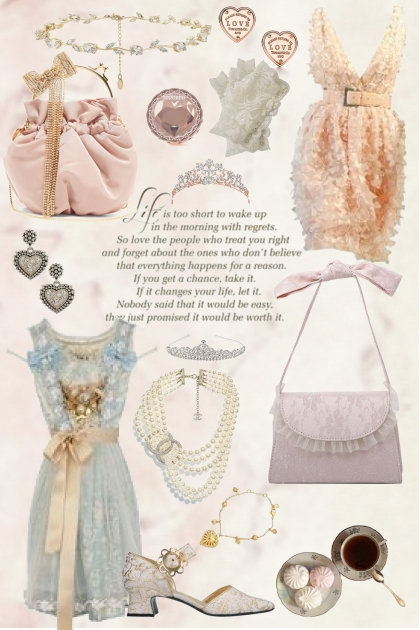 Lace and Accessories - Fashion set