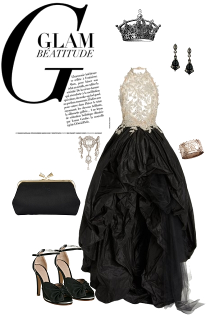 Glam in Black and Diamonds