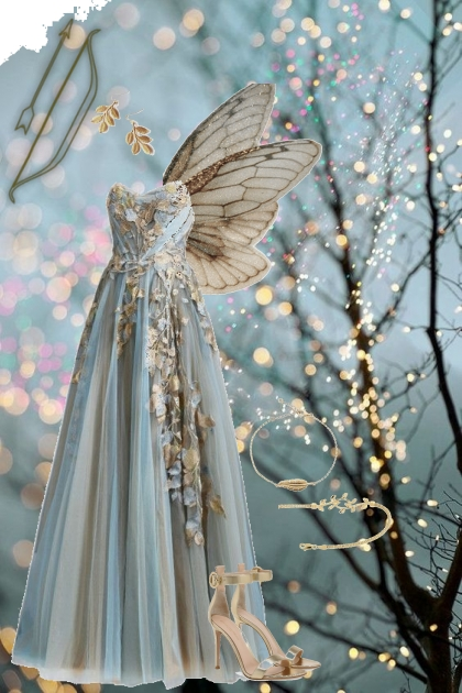 A Fairy in Gold Leaves