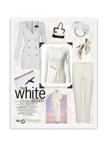 White Winter Work Outfit