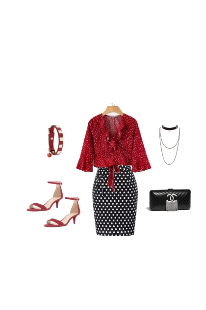 Classic Dressy Red and Black- Fashion set