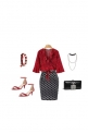 Classic Dressy Red and Black