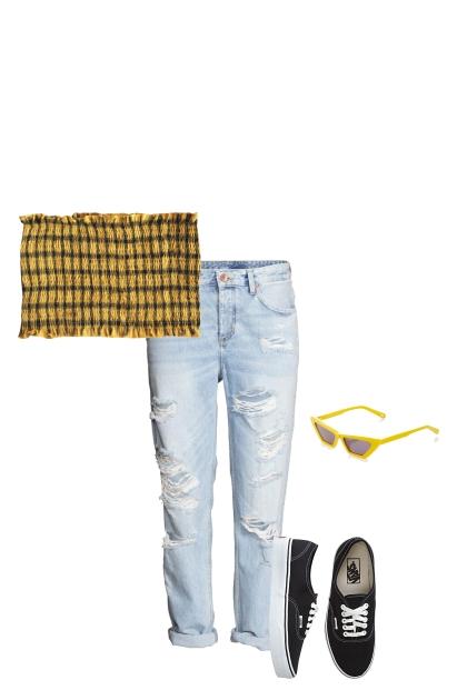 plaid shirt set