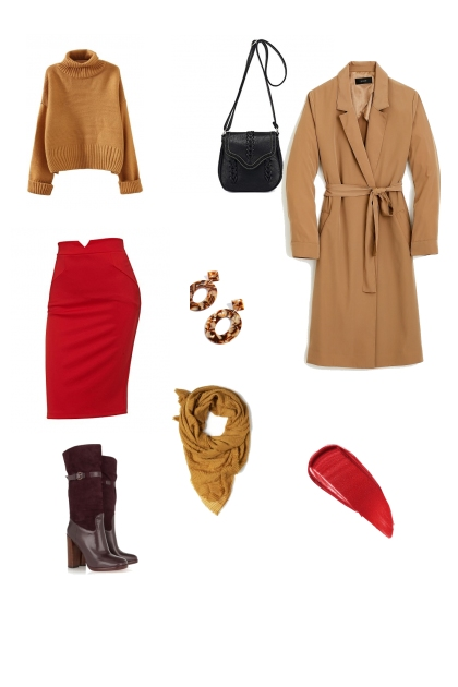 red skirt set
