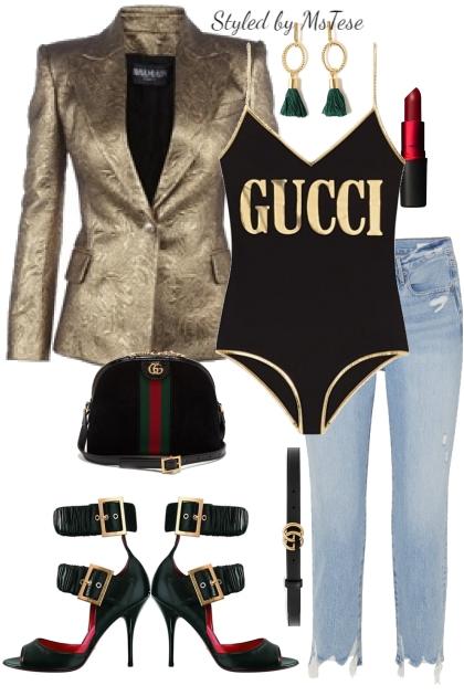 Bodysuit & Blazer Chic2