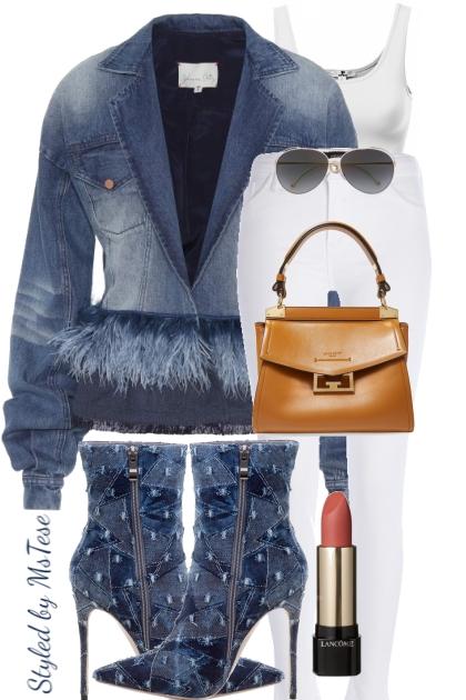 Denim Fashion Wear2- combinação de moda