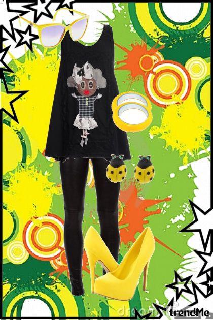 Black&Yellow girl