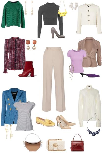 сочетание с классическими светлыми брюками