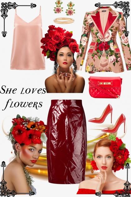 She loves flowers- Modna kombinacija