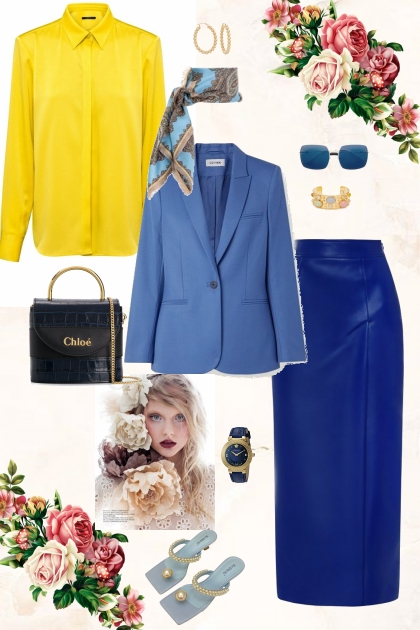 Blue&Yellow- Fashion set