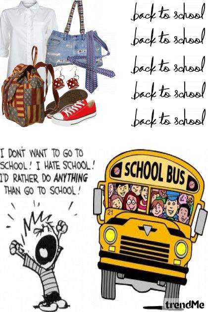 I don't wanna go back to school!!
