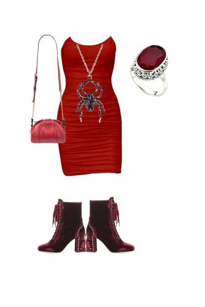Vampire Party Dress- Combinaciónde moda