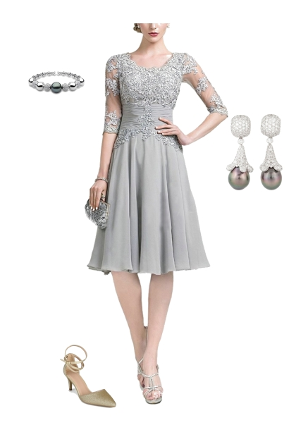 Eleant Mother of the Bride Dress Look