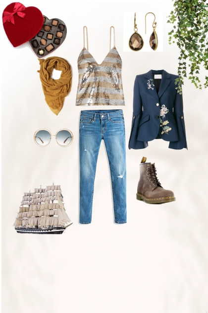 Classic Jeans and top for casual look