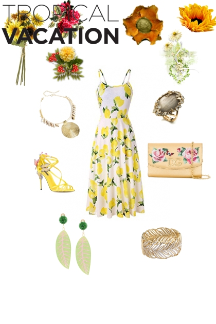 Spring maxi dress for tropical vacation