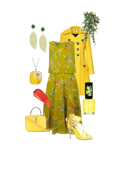 Yellow mellow spring dress