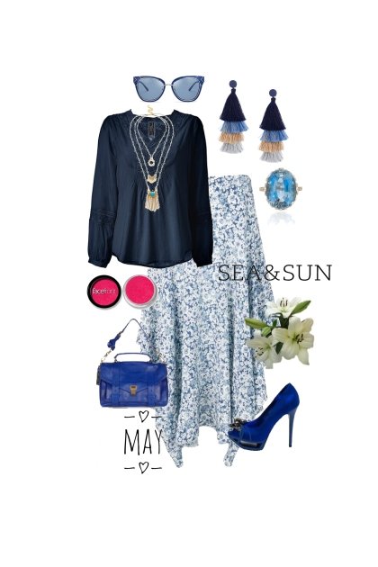 Blue and white in Bohemian