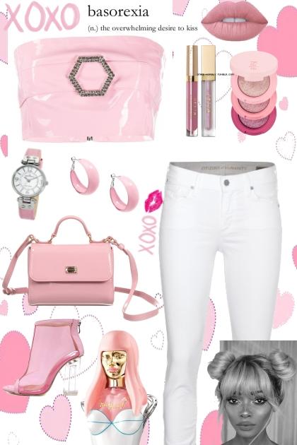 Cute Girl in Pink- combinação de moda