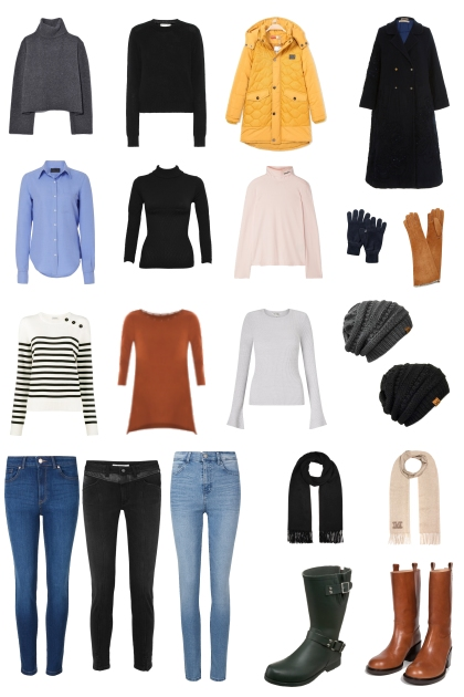 Canada Winter Packing List- Fashion set