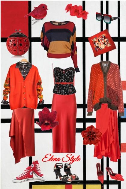 Красный- Fashion set