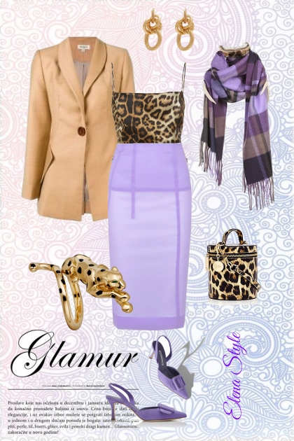давандовый леопард- Fashion set