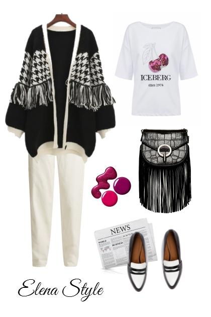 малина чб- combinação de moda