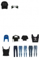 All Black, But Like 1 Blue Shirt.........