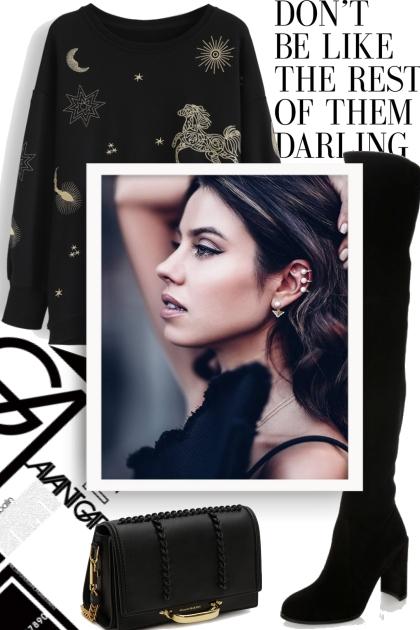 Black on Black- combinação de moda