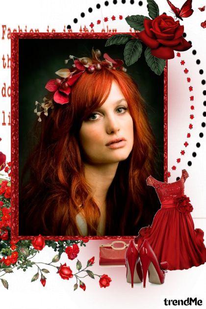 Blood Red Rose from collection Proljeće/Ljeto 2011 by Tea Cvitanović