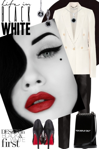 Life in black and white- Combinazione di moda