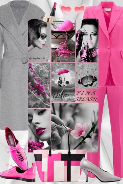 Pink splash- Modna kombinacija
