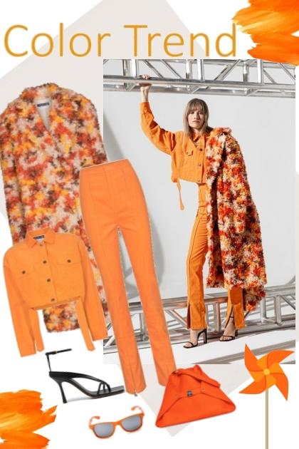 Color trend. Orange,- Fashion set