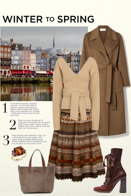 Winter to spring- Fashion set