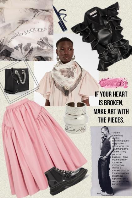 Alexander McQueen. Black and pink.