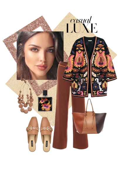 Casual luxe..