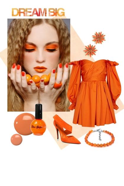 Orange dreams- combinação de moda