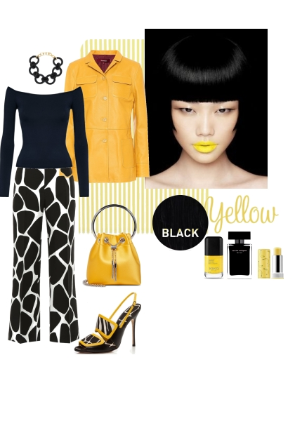 Black and yellow.